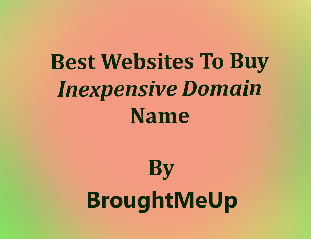 Best domain registrar to buy inexpensive domain name for Best websites to buy online