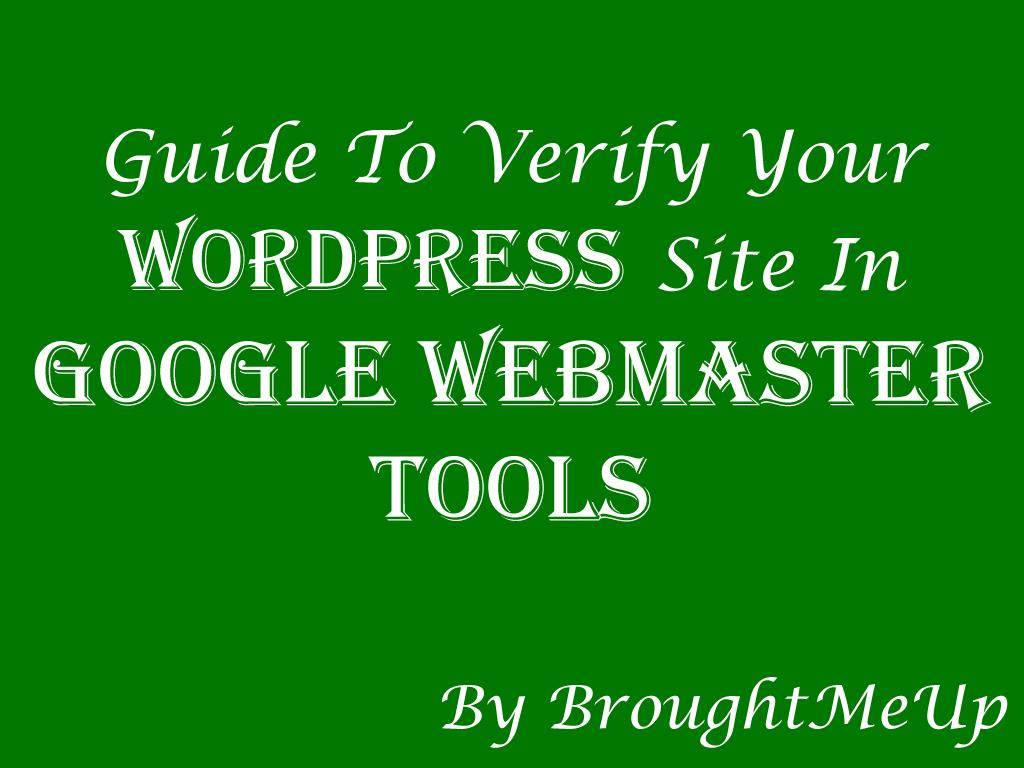 how to add u0026 verify wordpress site in google webmaster tools